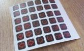 pisikesed tsiklikleebised lamineeritud kleebised